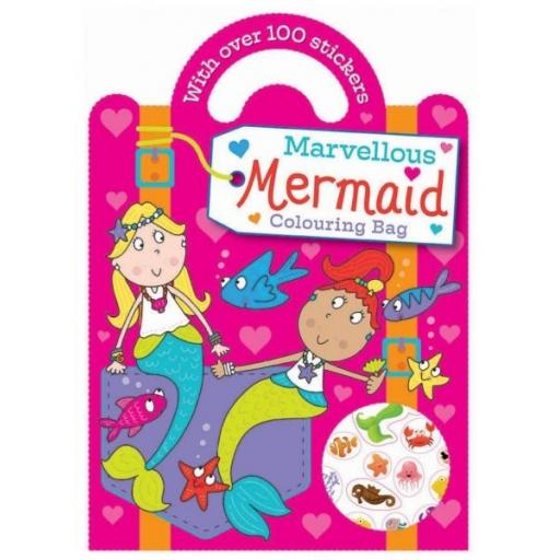 Carry Colouring & Sticker Book - Marvellous Mermaid