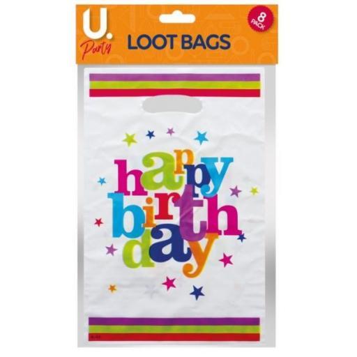 U.Party - Happy Birthday Loot Bags Pack of 8