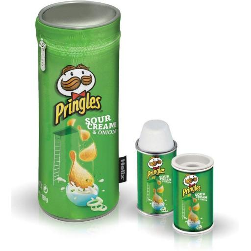 Pencil Case, Eraser & Sharpener Set - Pringles Green