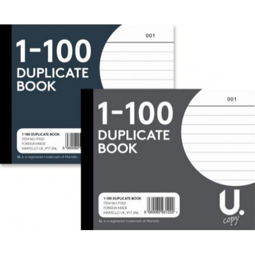 U. Half Size Duplicate Book 1-100