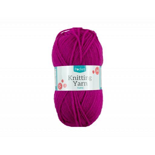Knitting Yarn 50g - Fushia
