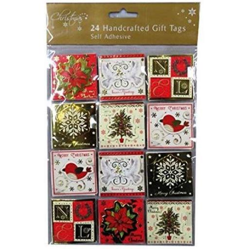 RSW Self Adhesive Handcrafted Trad Gift Tags - Pack of 24