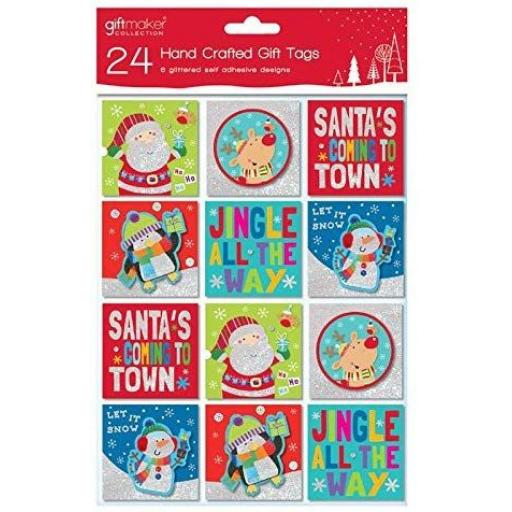 IGD Giftmaker Collection Handcrafted Tags Cute Designs - Pack of 24