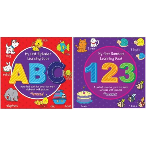 Squiggle My First Learning Books, ABC & 123 - Set of 2