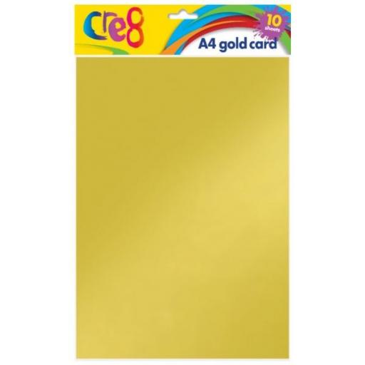 Cre8 A4 Gold Card - 10 Sheets