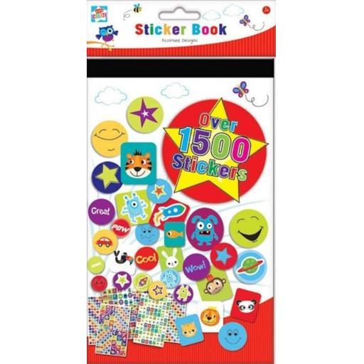 Kids Create Sticker Book Asstd Designs - Pack of 1,500