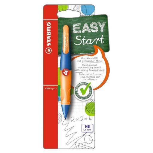 Stabilo Easy Ergo Right Handed Pencil 1.4mm - Ultramarine/Orange