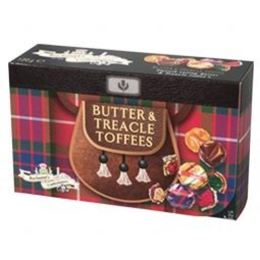 Buchanan's Lift The Kilt Box - Butter & Treacle Toffees 120g *BBE 11/21