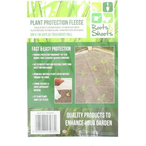 PMS Plastic Plant Protection Fleece Sheet 5x1M