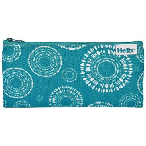 Helix Shibori Pencil Case - Circles