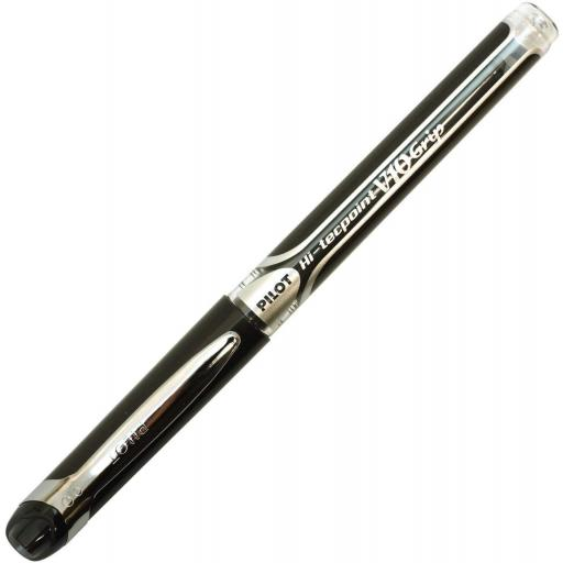 Pilot Hi-Tecpoint V10 Grip Liquid Ink Rollerball Pen, Broad Tip - Black