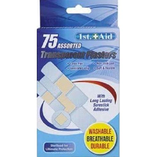 PMS 1st Aid Transparent Plasters - Pack of 75