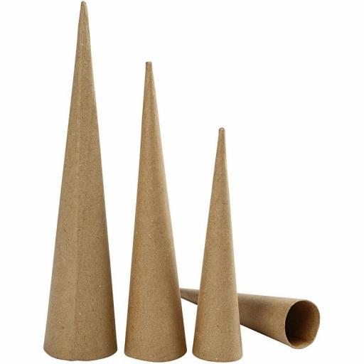 Creativ Paper Mache Tall Cones - Set of 3