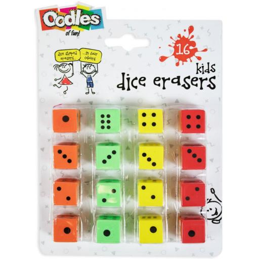 RSW Oodles Dice Erasers - Pack of 16