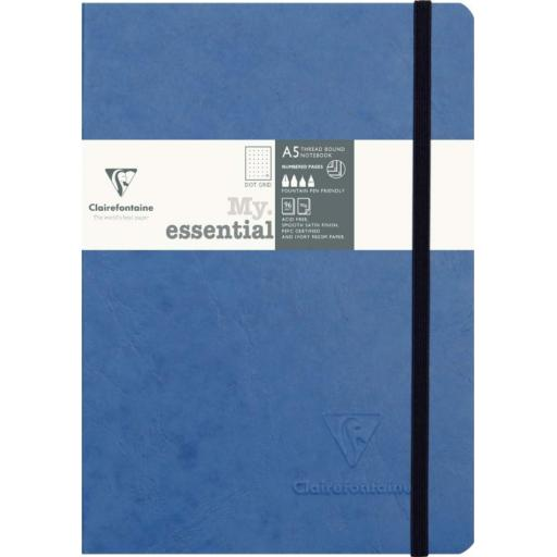 Clairefontaine My Essential A5 Dot Grid Notebook - Blue