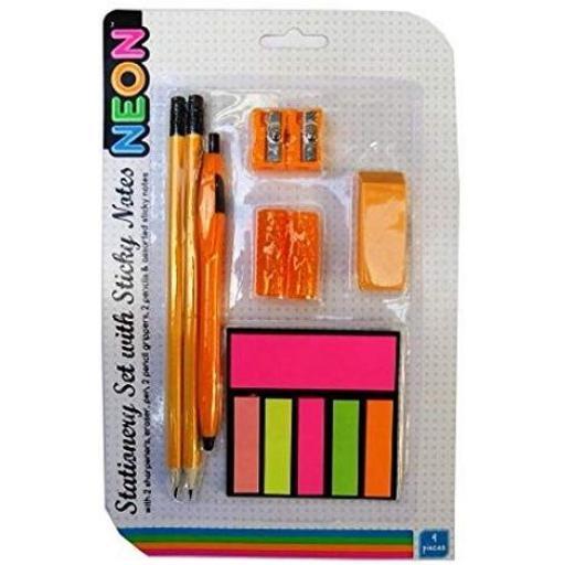 RSW Stationery Set with Sticky Notes - Orange