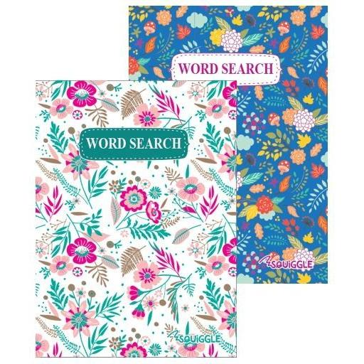 Squiggle A5 Floral Wordsearch Puzzle Books - Set of 2