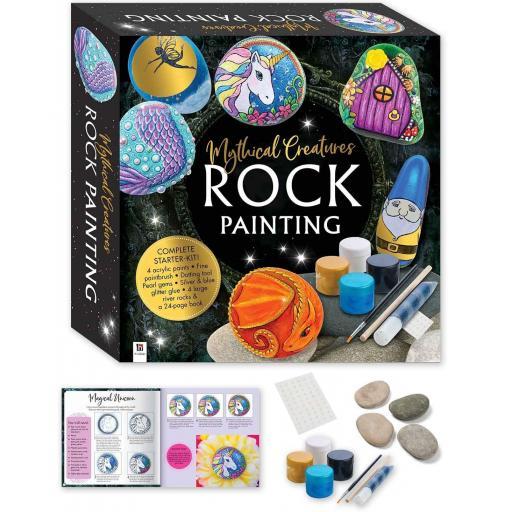 Hinkler Mythical Creatures Rock Painting Starter-Kit