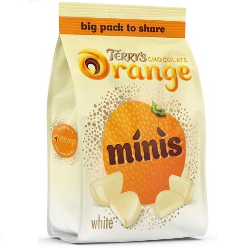 Terry's White Chocolate Orange Mini's 140g Bag