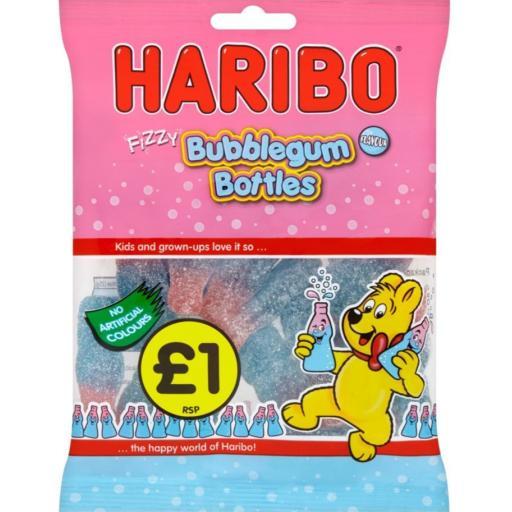 Haribo Zing Bubblegum Bottles 160g