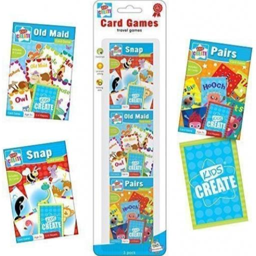 Kids Create Travel Card Games - Pack of 3