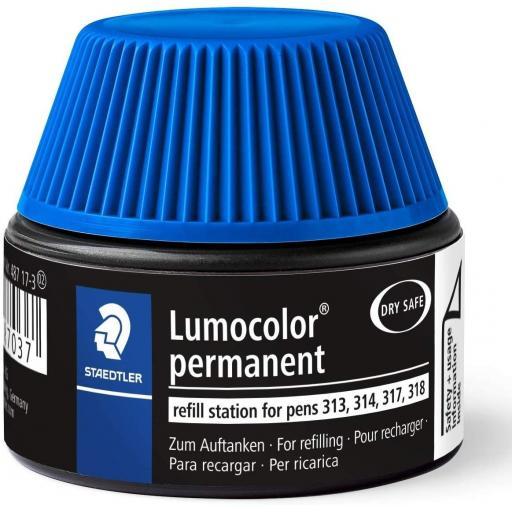 Staedtler Lumocolor Permanent Ink Refill - Blue