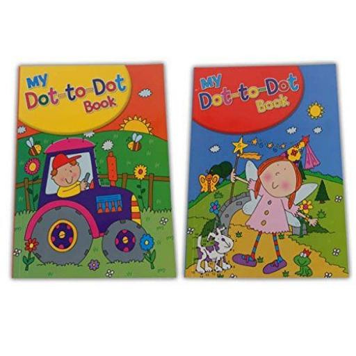 Squiggle A4 My Dot to Dot Books, Assorted Designs - Set of 2