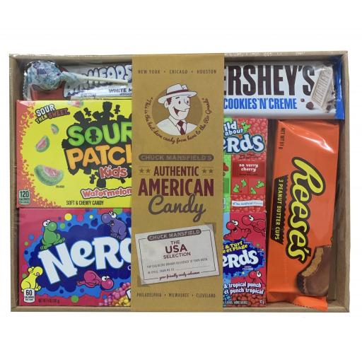 USA Selection Box - Large Candy Mix Hamper 480g BBE 07/21
