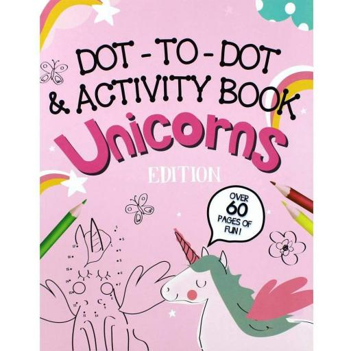 Eurowrap Unicorn Dot-to-Dot Activity Book - 60 Pages