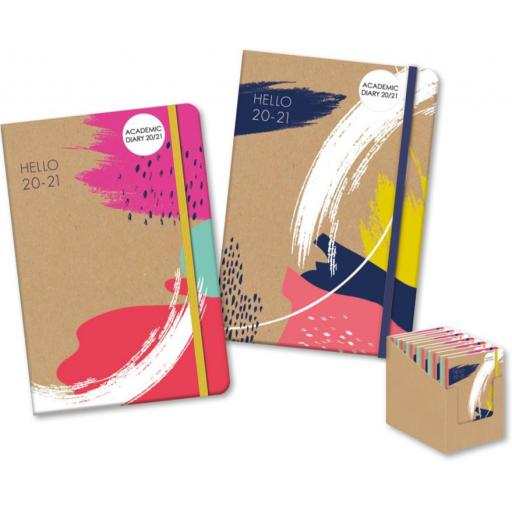 IGD A5 Academic Diary Hello 20/21 Assorted Designs
