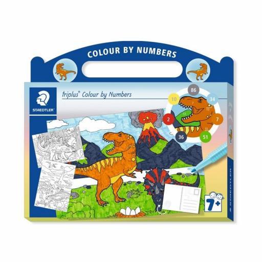 Staedtler Triplus Colour By Numbers - Dinosaur