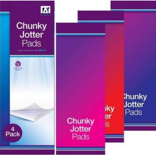 IGD Chunky Jotter Pads - Pack of 3