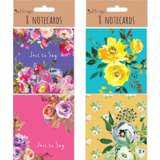 Tallon Just to Say Small Notecards, Floral - Pack of 8