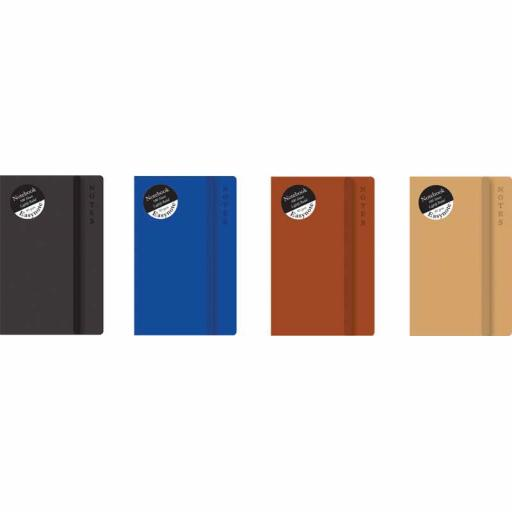 Easynote Slim Soft Touch Notebook Rustic - Assorted Colours