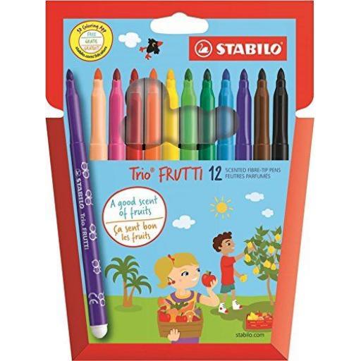 Stabilo Trio Frutti Fibre Tip Pens - Pack of 12
