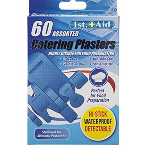 PMS 1st Aid Blue Catering Plasters - Pack of 60