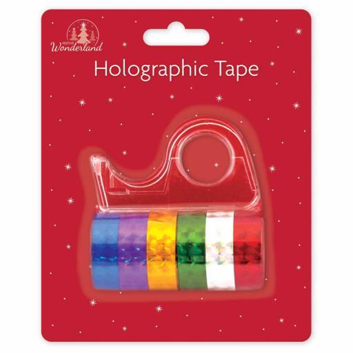 Tallon Holographic Tape & Dispenser - Pack of 6
