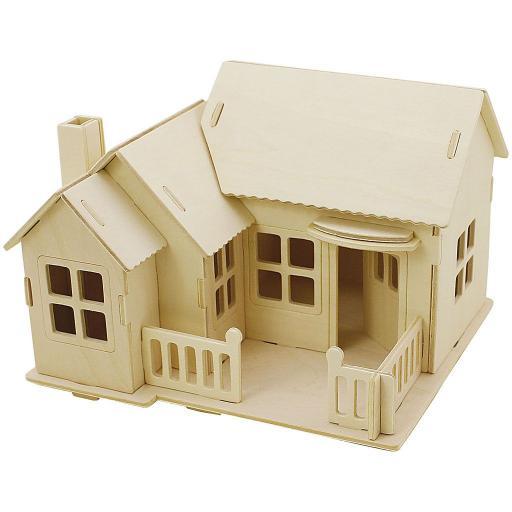 Creativ 3D Wooden Construction Kit - House