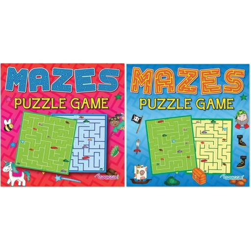 Squiggle Mazes Puzzle Game Books - Set of 2