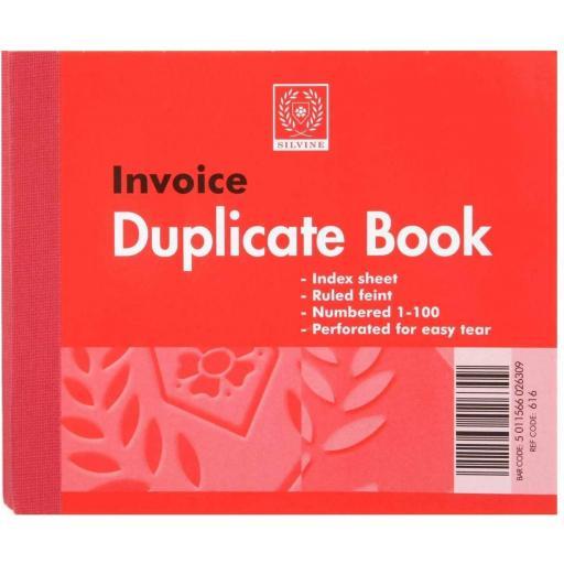 Silvine Half Size Invoice Duplicate Book