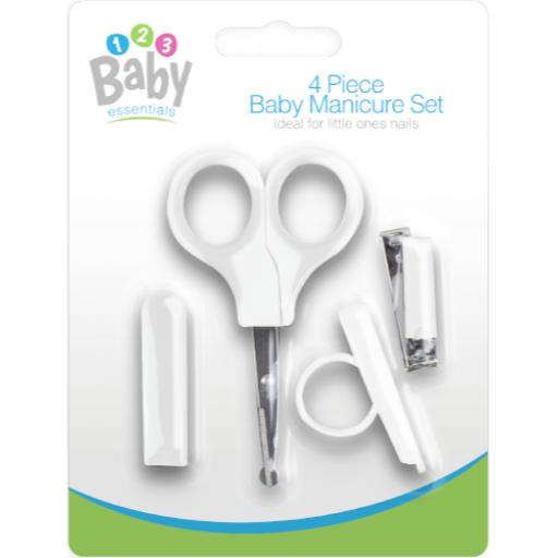 Gem Four Piece Baby Manicure Set - White