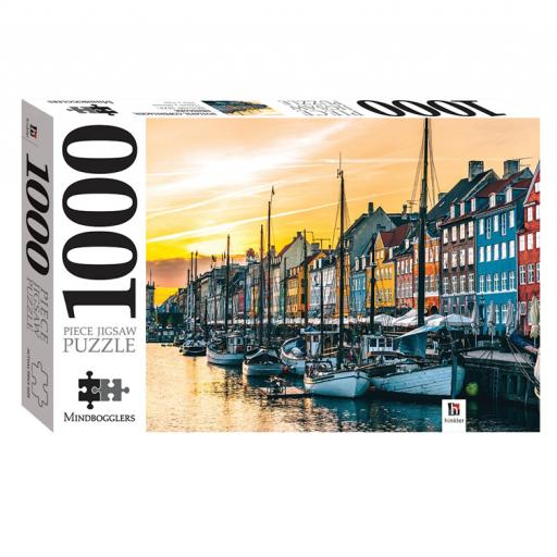 Hinkler Mindbogglers 1,000 pc Jigsaw - Nyhavn, Copenhagen