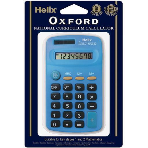 Helix Oxford National Curriculum Calculator - Blue
