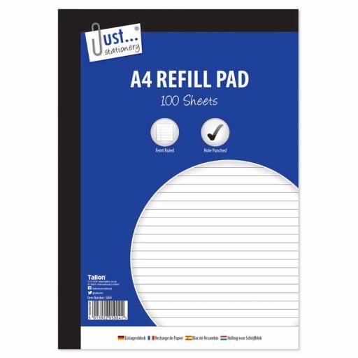 JS Feint Ruled A4 Refill Pad - 100 Sheets