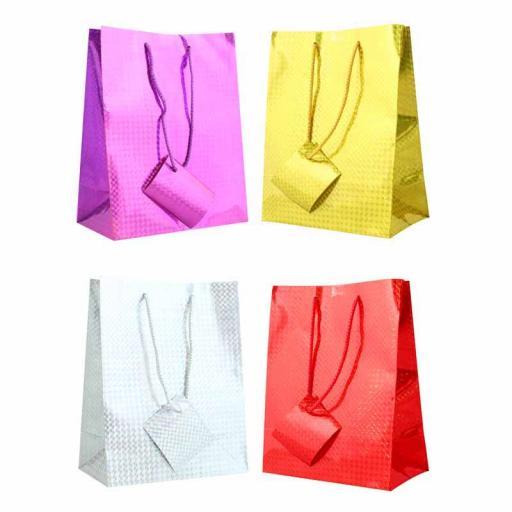 Holographic Gift Bag Medium (22.5cm x 18cm) - Pack of 12