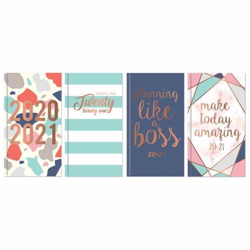Tallon Slim Academic Diary 20/21 WTV Assorted Designs