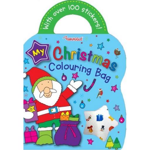 Squiggle My Christmas Colouring Bag