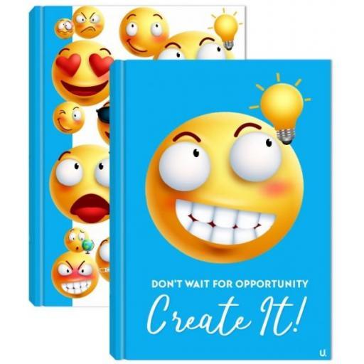 Squiggle Emoji A4 Hardback Notebook - Assorted
