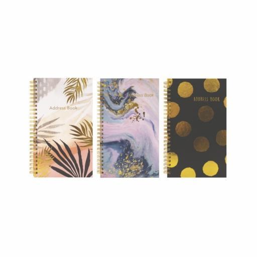 Tallon Large Slim Wiro Address Book - Assorted Designs