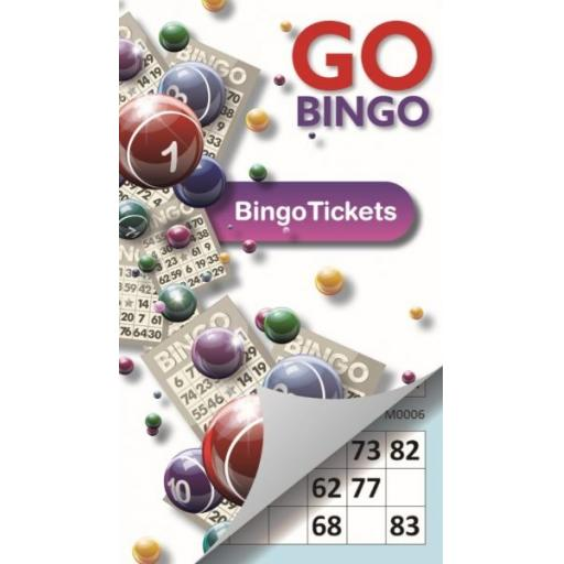 Go Bingo Tickets, Assorted Colours - Pack of 450